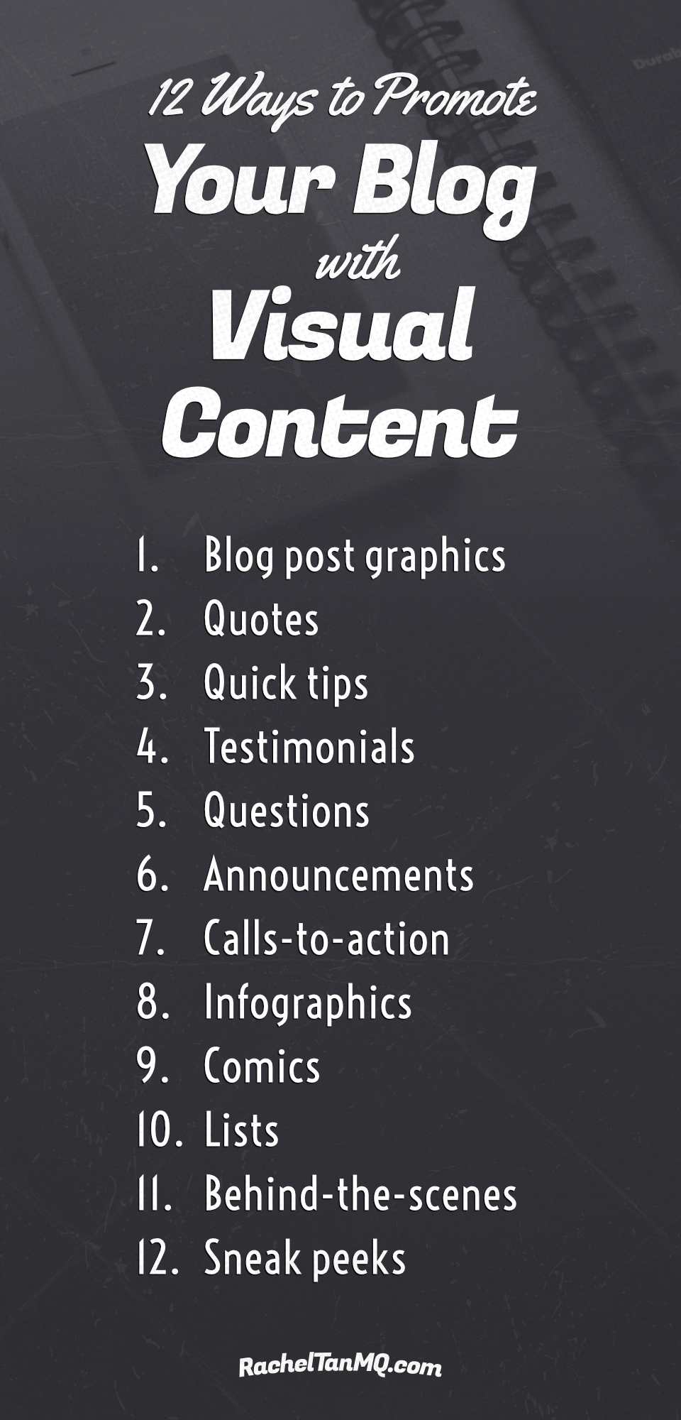 Increase your blog traffic with these 12 visual marketing ideas! • visual content marketing design | how to promote your blog on pinterest | how to promote your blog on instagram | pinterest tips for bloggers | instagram tips for bloggers | pinterest marketing | instagram marketing | blog graphics | social media graphics #visualmarketing #socialmediagraphics #bloggraphics #bloggingtips #pinteresttips #instagramtips #pinterestmarketing #instagrammarketing #socialmediamarketing #infographic