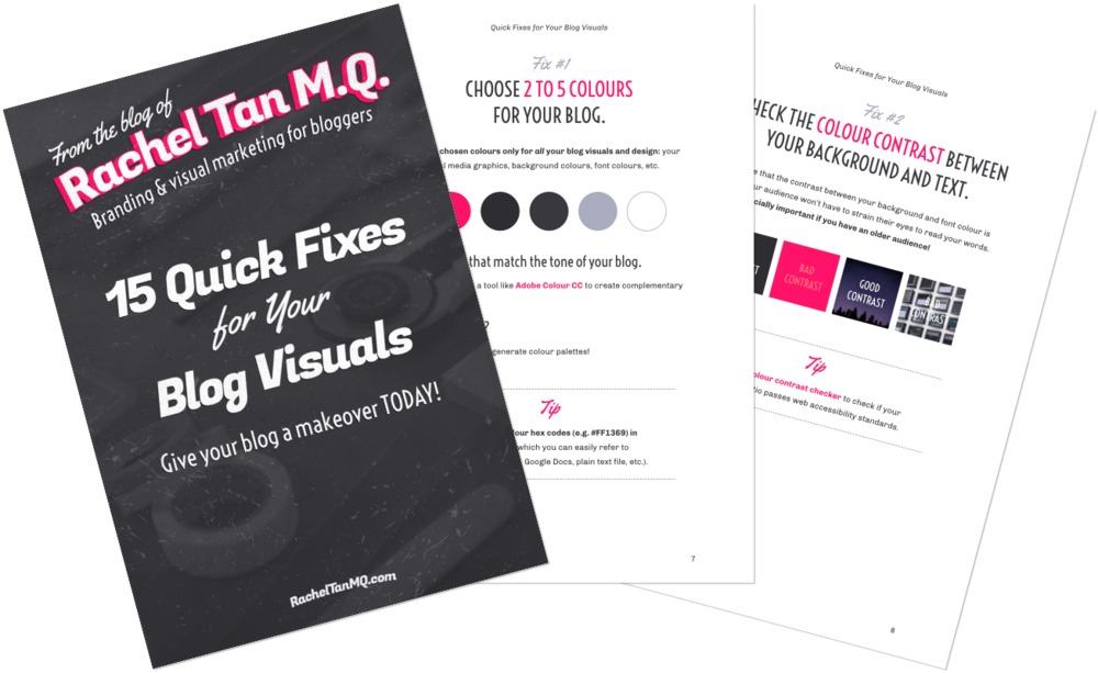 15 Quick Fixes for Your Blog Visuals (FREE ebook!)