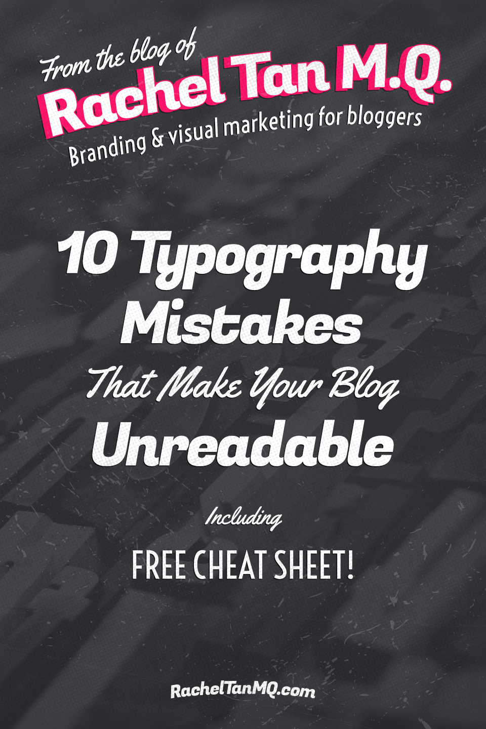 Create a comfortable reading experience for all your blog readers by avoiding these 10 typography mistakes in your blog design and social media graphics! • graphic design tips | graphic design tutorials | web design tips | web design tutorial #typography #blogdesign #bloggraphics #socialmediagraphics #bloggingtips #graphicdesigntips