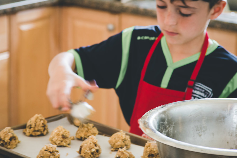 This kid loves raisins! This is a perfect recipe to make with kids.