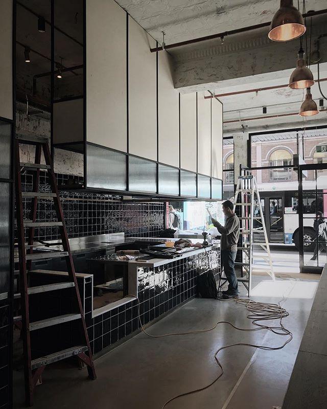 On site @saintgeorgedining — #bardesign#hospitalitydesign#cafedesign#sydneydesign#sydneyarchitects#sydneyinterior#sydneyarchitecture#hospitality#sydneycentral#interiordesign#australiaarchitecture#australiaarchitects#fitout#saintgeorgedining#underconstruction