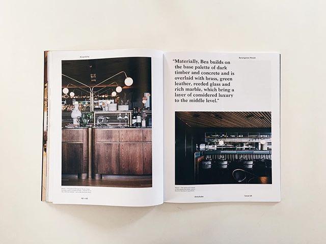 A feature of @barangaroohouse in @artichoke_magazine Issue 64 - have a read! — #interiordesign #interiorarchitecture #sydneyarchitecture #sydneyarchitects #sydneydesign #sydneyinteriors  #sydneyinteriordesign#austrsliandesign#barangaroohouse #sydneybars #bardesign#restaurantdesign#hospitalityinteriors#artichokemagazine