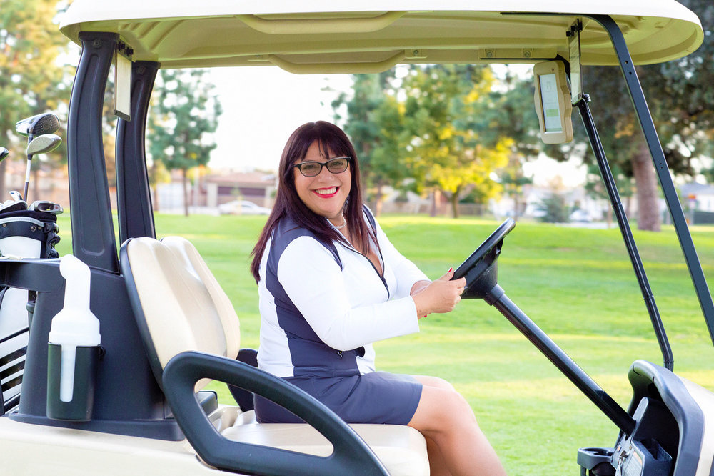 Ms. Azucena, CEO, Latina Golf Association, about how she created the association for Latina women are break the glass ceiling with a golf ball! Exciting times!