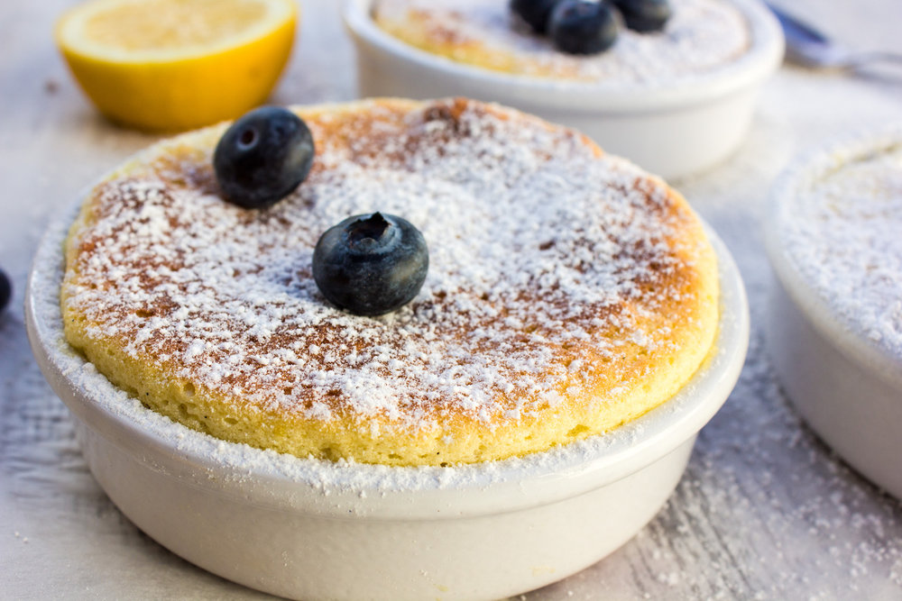 Warm lemon pudding! Simply delicious...#lemon #pudding #desserts