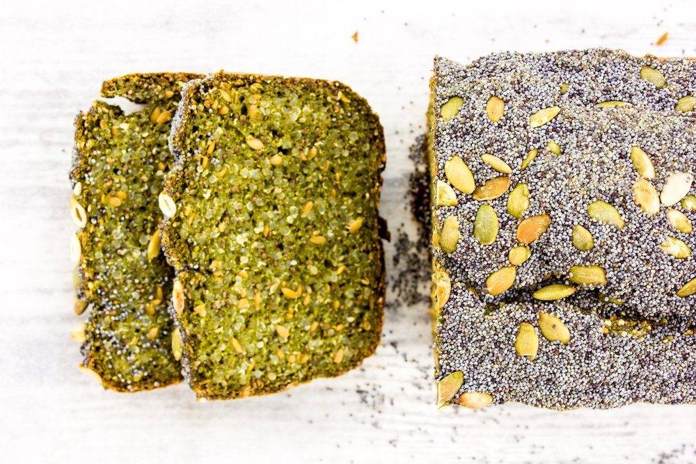 #healthy #quinoa #poppy #chlorella #bread #glutenfree #easy #vegan