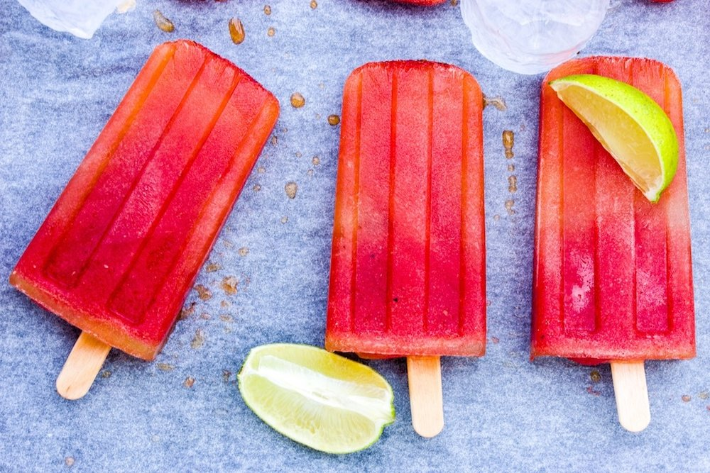 Yummy Prickly Pear and Watermelon Popsicles. Healthy, gf and vegan.