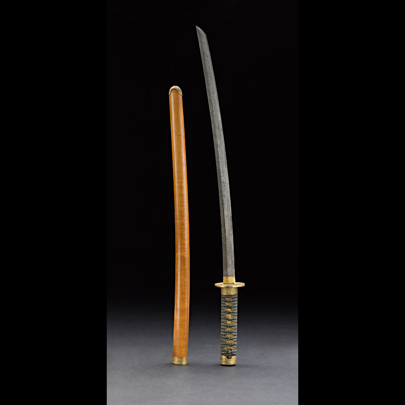 Japanese-style Sword with Satinwood Scabbard Gift from King Mongkut to President Franklin Pierce, 1856 83 cm length Courtesy of the Smithsonian Institution, Department of Anthropology; E101-1; Photo by James Di Loreto and Lucia RM Martino