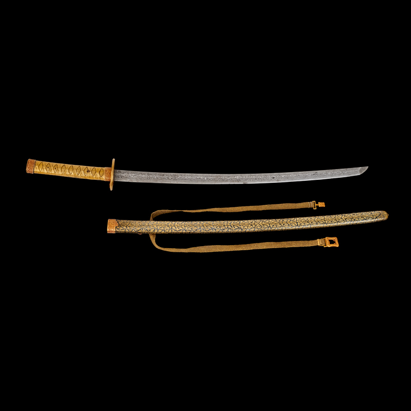 Japanese-style Sword with Gold Niello Scabbard Gift from King Mongkut to President James Buchanan (received by President Abraham Lincoln), 1861 86.4 cm length Courtesy of the National Archives and Records Administration, General Records of the United States Government; 5923141