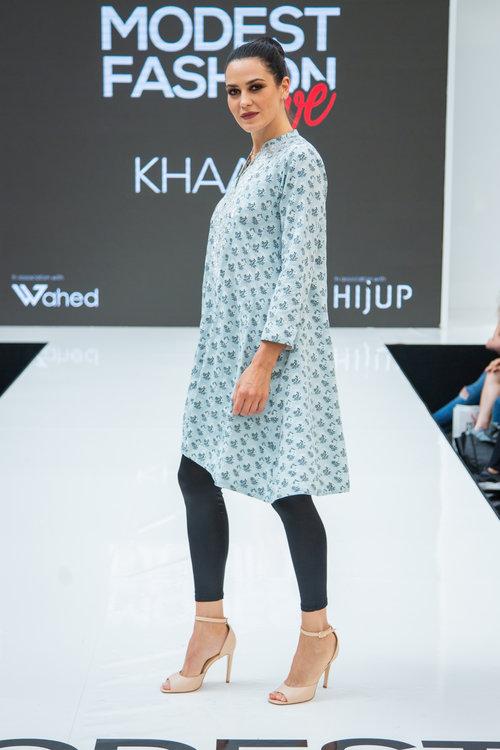 f0f5c7c1dff6e Khaadi Powder Blue Dress and Black Leggings — Modest Fashion Live