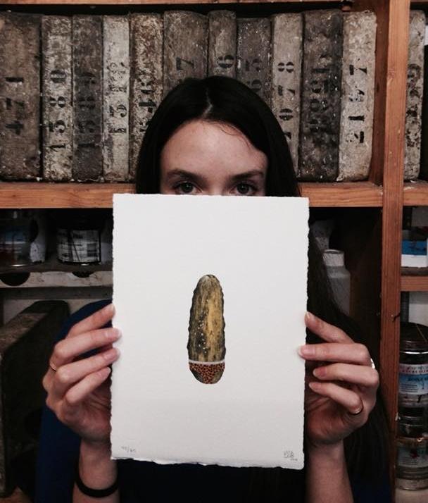 """Venez découvrir jusqu'au 30 mars 2018, la nouvelle  #lithographie  """"Yes"""" de  #CharlotteLeBon , à l'exposition « PROPOSITIONS INÉDITES 2 » à la Galerie Item."""