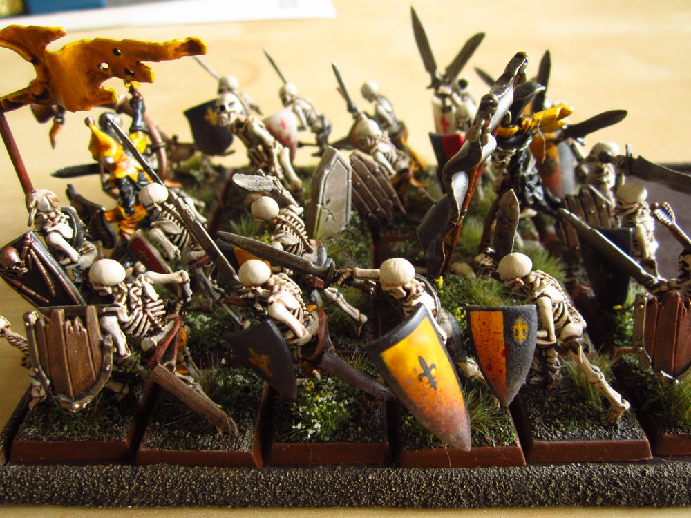 Proud foot-knights of Mousillon - now cast to the winds of magic and lost forever (i.e. sold on eBay).
