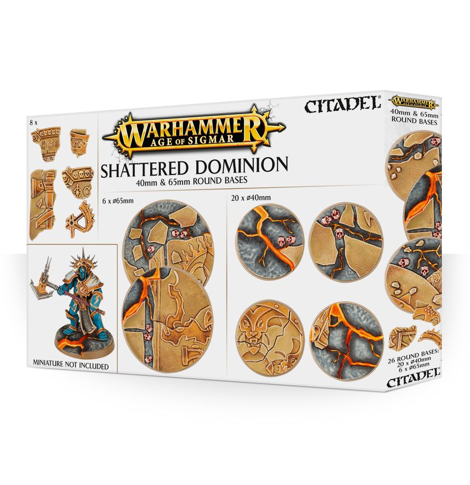 Warhammer Age of Sigmar Shattered Dominion Bases