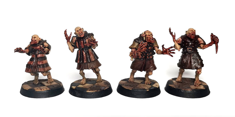 Warhammer Age of Sigmar Converted Crypt Ghouls for Flesh-eater Courts.