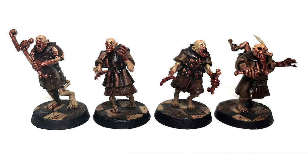 Warhammer Age of Sigmar - Flesh eater Courts, crypt ghoul conversions.