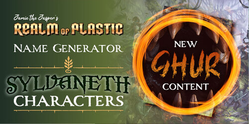 Character Name Generator - Sylvaneth — Realm of Plastic