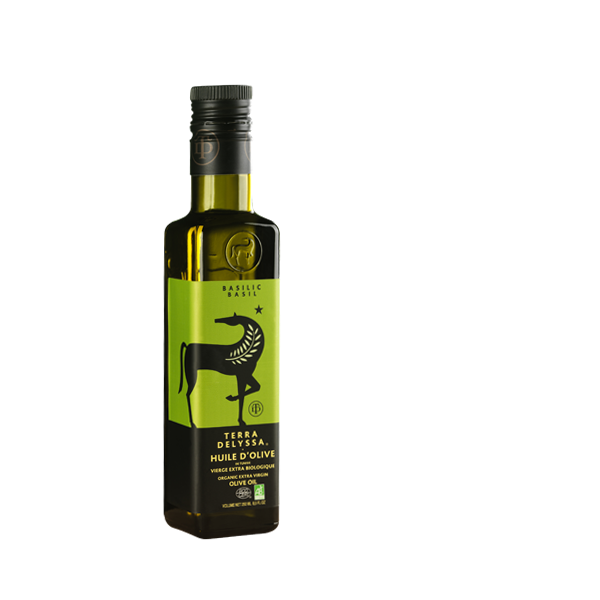 - Secteur : GourmetAnnée de création : 2002Son engagement Go for Good : EnvironnementalSes critères : Les produits Go for Good de la marque Terra Delyssa sont issus de l'agriculture biologique. L'agriculture biologique a recours à des pratiques de culture et d'élevage soucieuses du respect des équilibres naturels. Ainsi, elle exclut l'usage des produits chimiques de synthèse, des OGM, et limite l'emploi d'intrants.A découvrir: L'huile d'olive aromatisée au basilic, au citron, à l'ail...