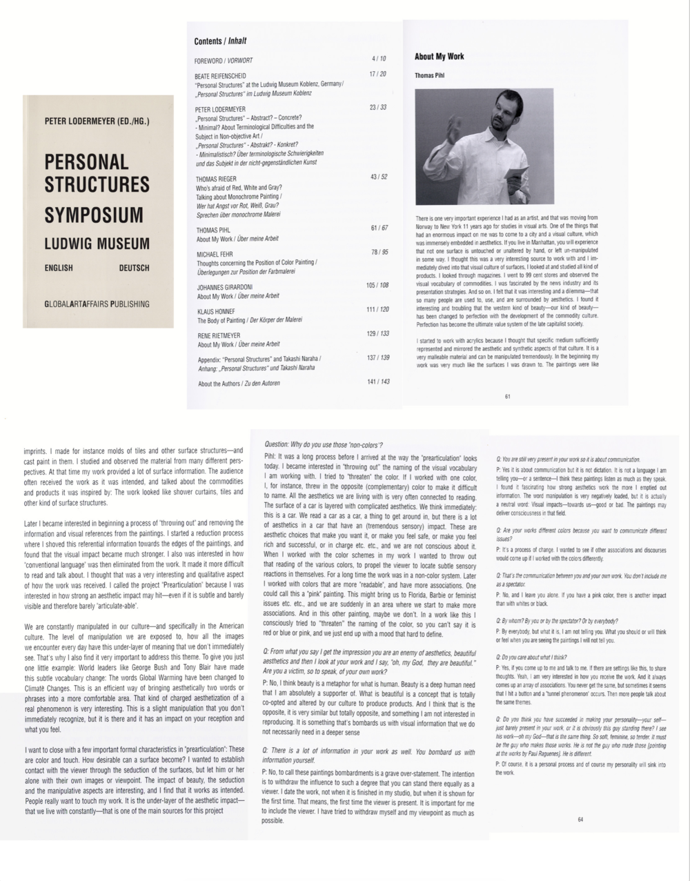 Personal Structures, Symposium Ludwig Museum  –click on image to read full article