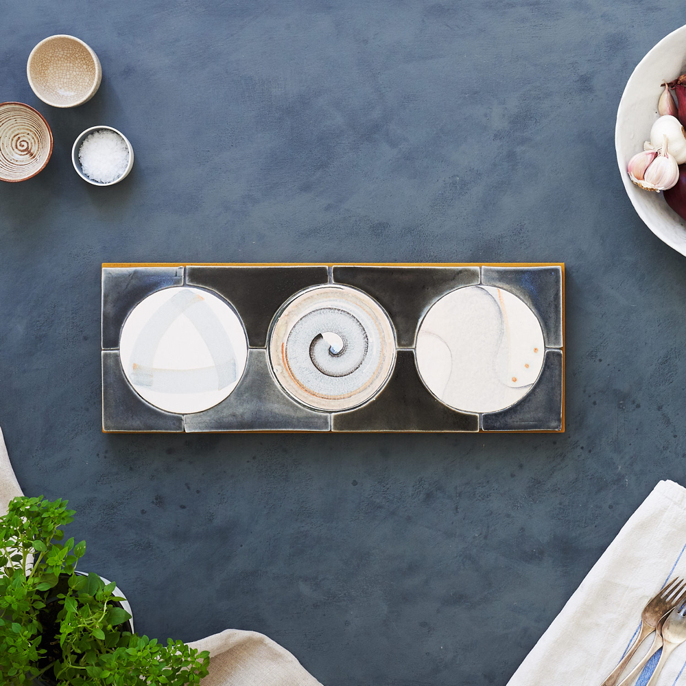 Grey & Muga,  Circles Platter 16 x 48cm @ £150