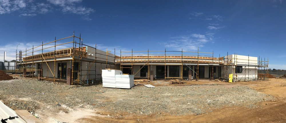 CHILDCARE in progress - 10/01/19Take a sneak peak of the West facing Elevation of our terrific Early Learning Centre. Enrolments are happening now. Call 0418 797 627 for more information