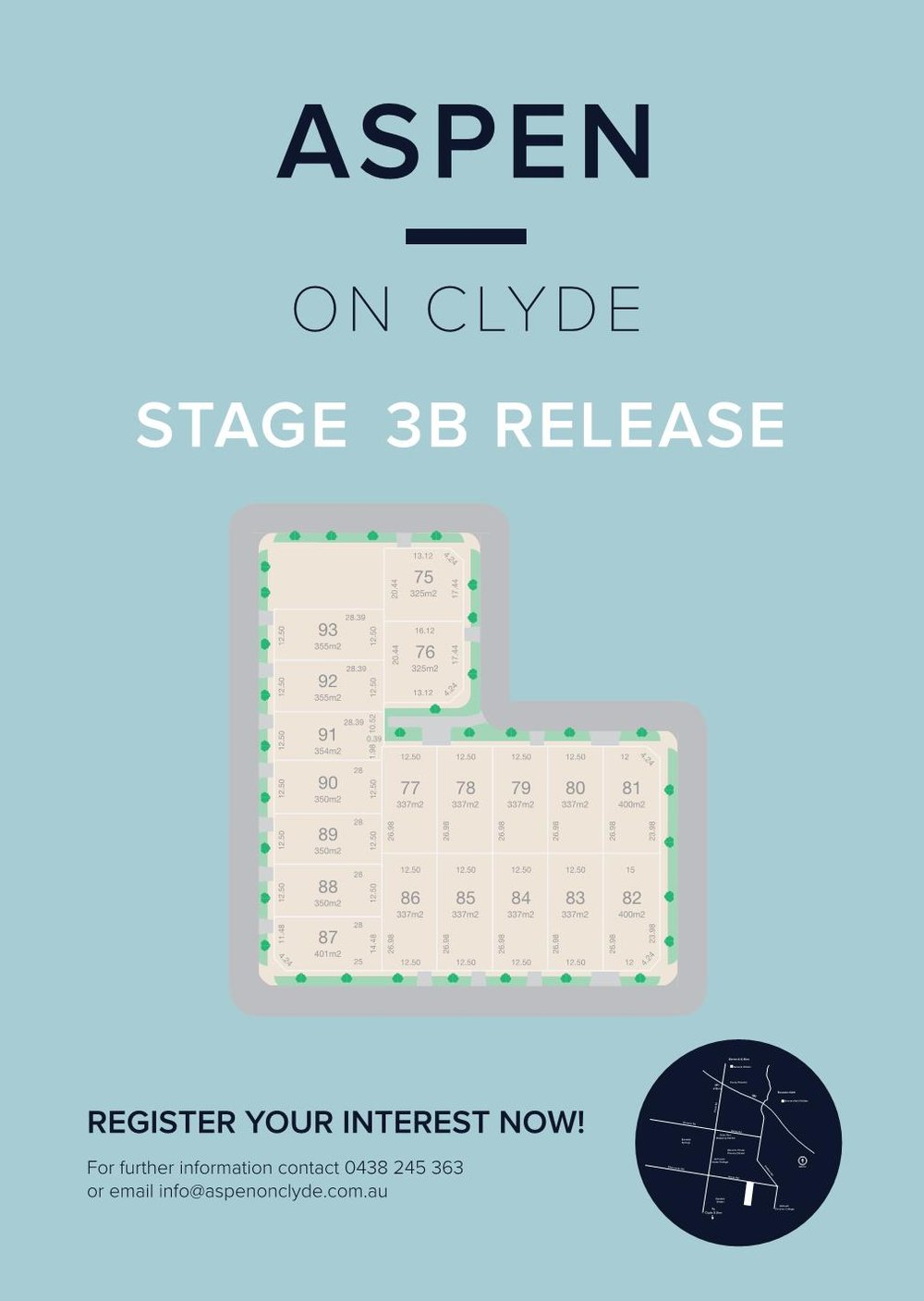 Latest release stage 3b - 06/10/2018Exciting news! Our Stage 3B is on the market with an assortment of awesome packages from our amazing builders. For more information, call us on 0438 245 363