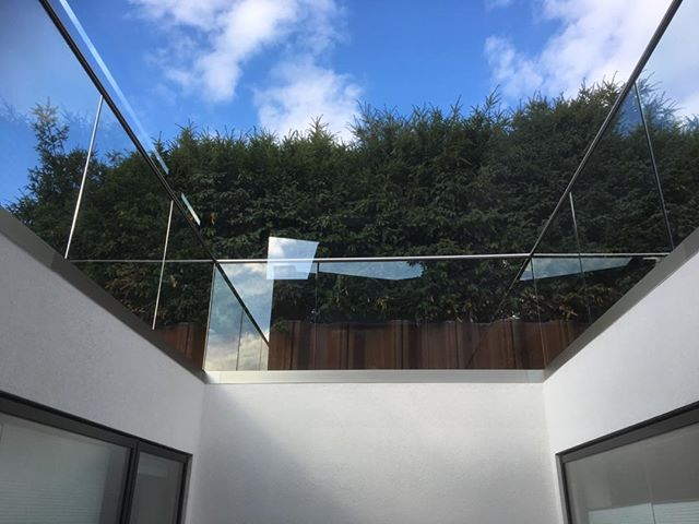 Beautiful day for installing this stunning glass balustrade