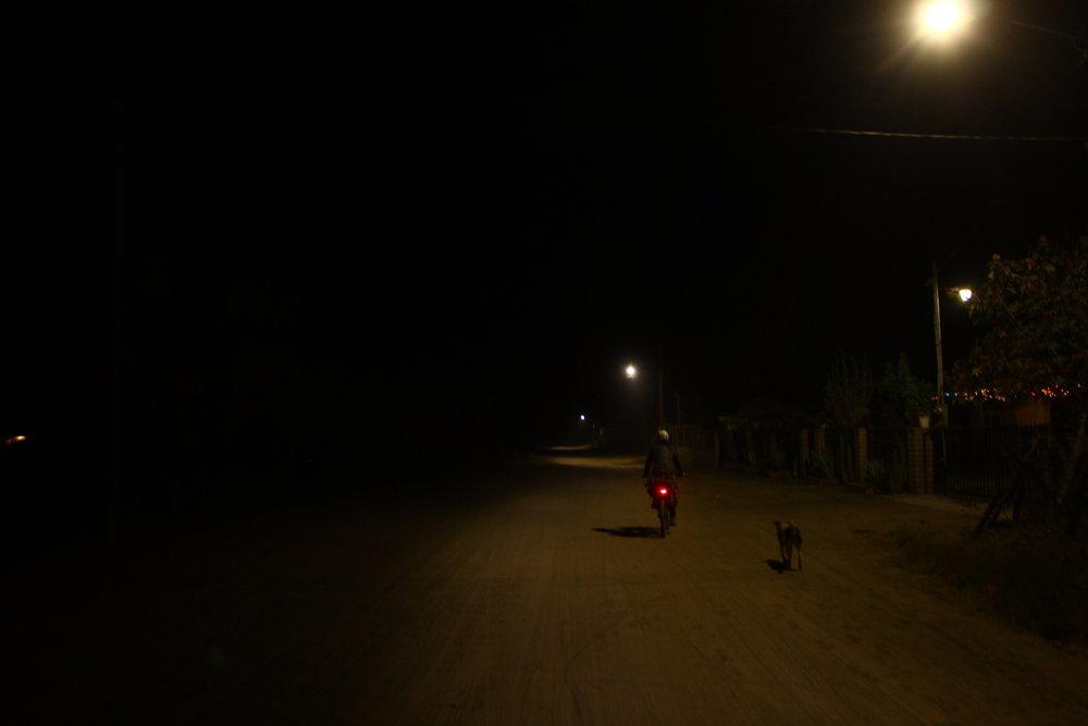 La noche por Uruapan.