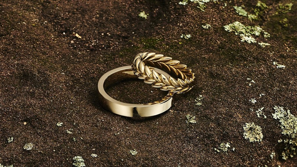 Ethical 18kt gold wedding bands. Handmade in NYC.