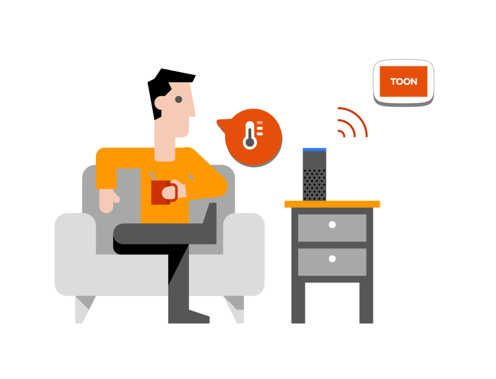 Interact with Toon - Toon is much more than a smart thermostat. Control your heating with Toon or get insight into your energy consumption. You can even connect smart devices to Toon, from smart plugs to voice assistants.Sit back and let your Toon do the work. Not sure where to start?