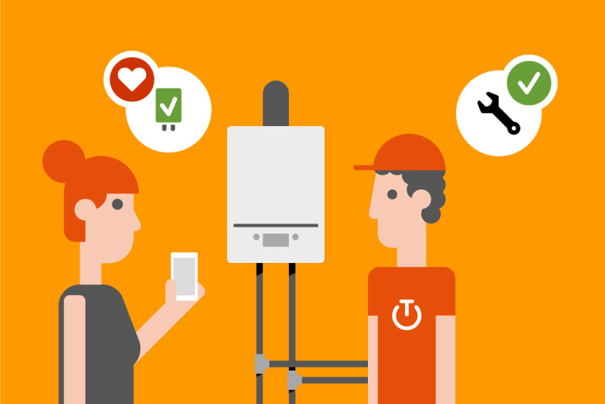 Boiler check - Boilers sometimes seem to have a mind of their own; they start malfunctioning without warning or shut down altogether. But thanks to Boiler check, there are no more surprises. This new service alerts you of any irregularities or when your boiler is due for a check-up. The mechanic will be just a click away. Your boiler will never leave you in the cold again.