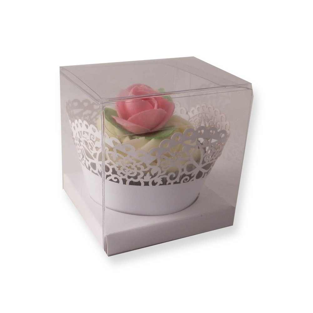 Cupcake Boxes Clear Square Cupcake Boxes 70mm