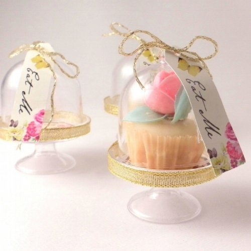 SHOP:Wedding Cupcake Accessories - Create unique wedding favours with miniature cupcake dome stands, pretty wedding cupcake boxes and cupcake toppers.