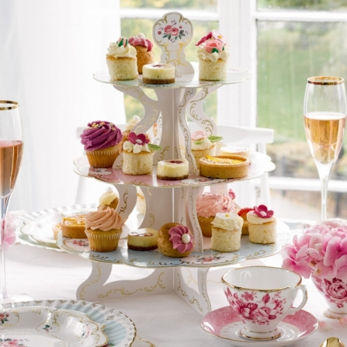 SHOP: Afternoon Tea Ideas - Pretty afternoon tea cupcake stand centrepieces, floral cupcake toppers and lots of accessories to create a stunning afternoon tea at home.