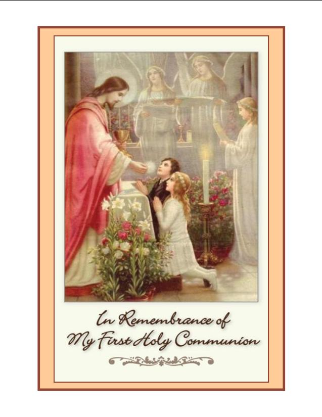 First Holy Communion Mass Card Olme Org
