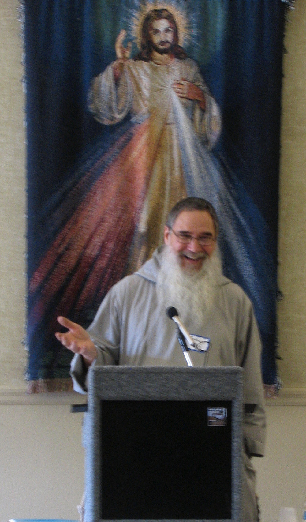 Father Terrence Messer, CFR, at the One Day Retreat on Feb. 28, 2018.
