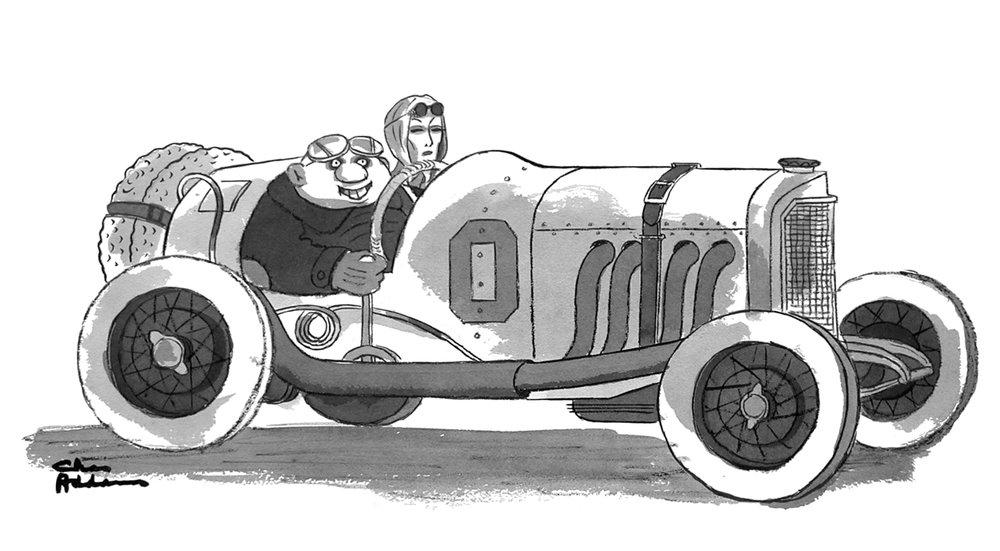 Vintage Racers   by Charles Addams, 1980
