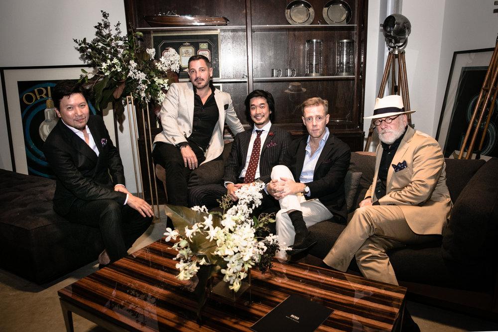 #BUROSOCIAL's 5 hosts - Roy Teo,  Joshua Schwartz, Norman Hartono,  Marc Nicolson, Bill Cain