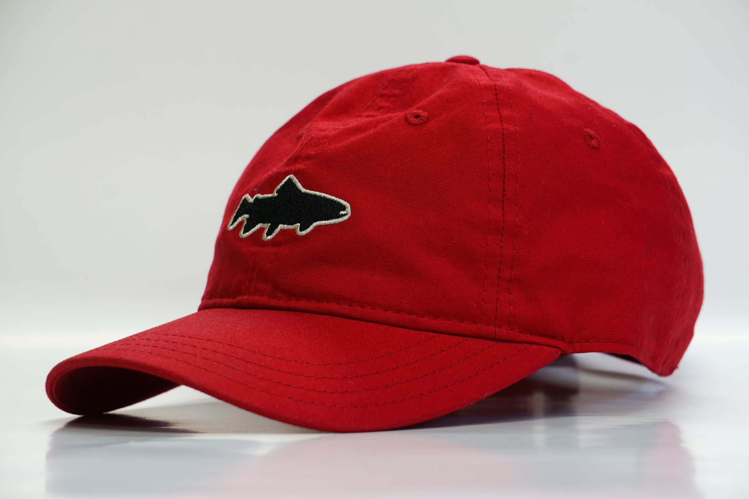 54a014339cc Yewchati Dawgs Trout Hat - Red — Yewchati Co.