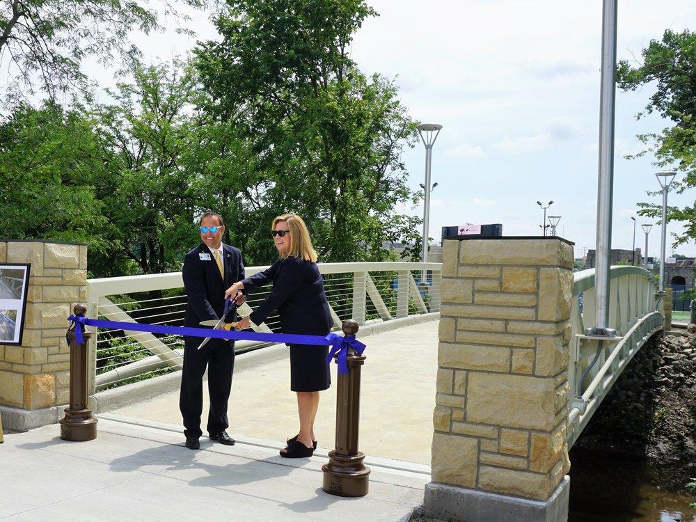 University of Toledo Carlson Library Bridge Ribbon Cutting