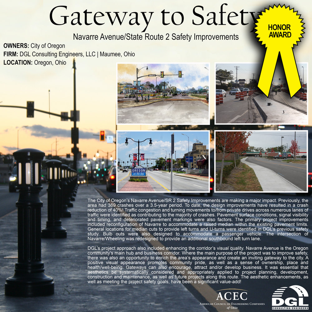 ACEC Engineering excellence honor award: navarre avenue/state route 2 safety improvements