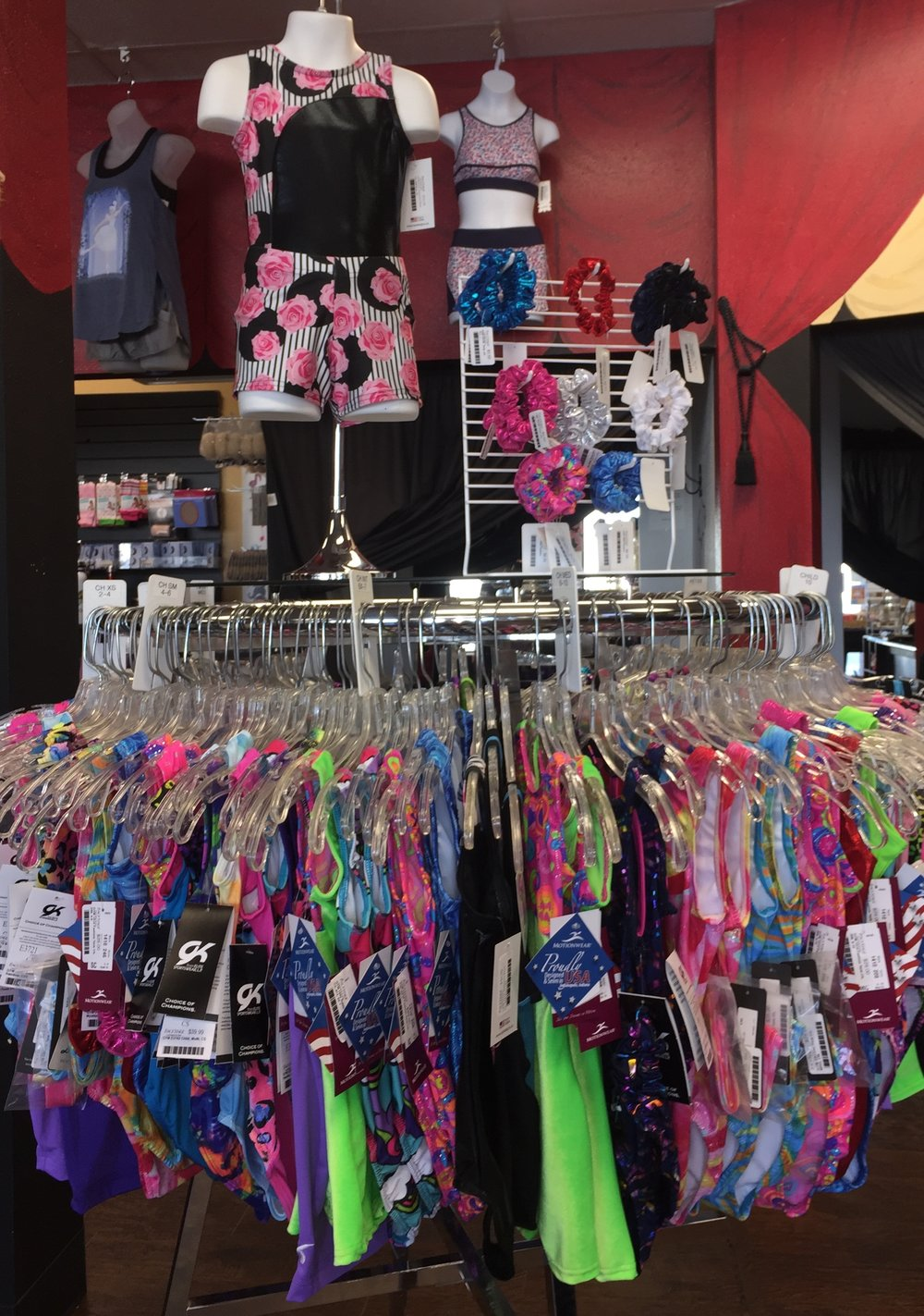 Currently stocking gymnastics leotards from GK Elite, Leos & Motionwear.