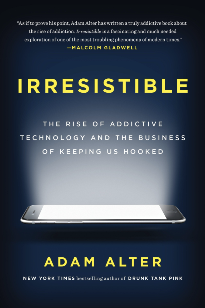 In this revolutionary book, Adam Alter, a professor of psychology and marketing at NYU, tracks the rise of behavioral addiction, and explains why so many of today's products are irresistible. Though these miraculous products melt the miles that separate people across the globe, their extraordinary and sometimes damaging magnetism is no accident. The companies that design these products tweak them over time until they become almost impossible to resist. By reverse engineering behavioral addiction, Alter explains how we can harness addictive products for the good—to improve how we communicate with each other, spend and save our money, and set boundaries between work and play—and how we can mitigate their most damaging effects on our well-being, and the health and happiness of our children.  -