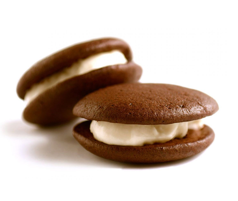 whoopie pie - A cakey sandwich loaded with yummy vegan marshmallow cream.