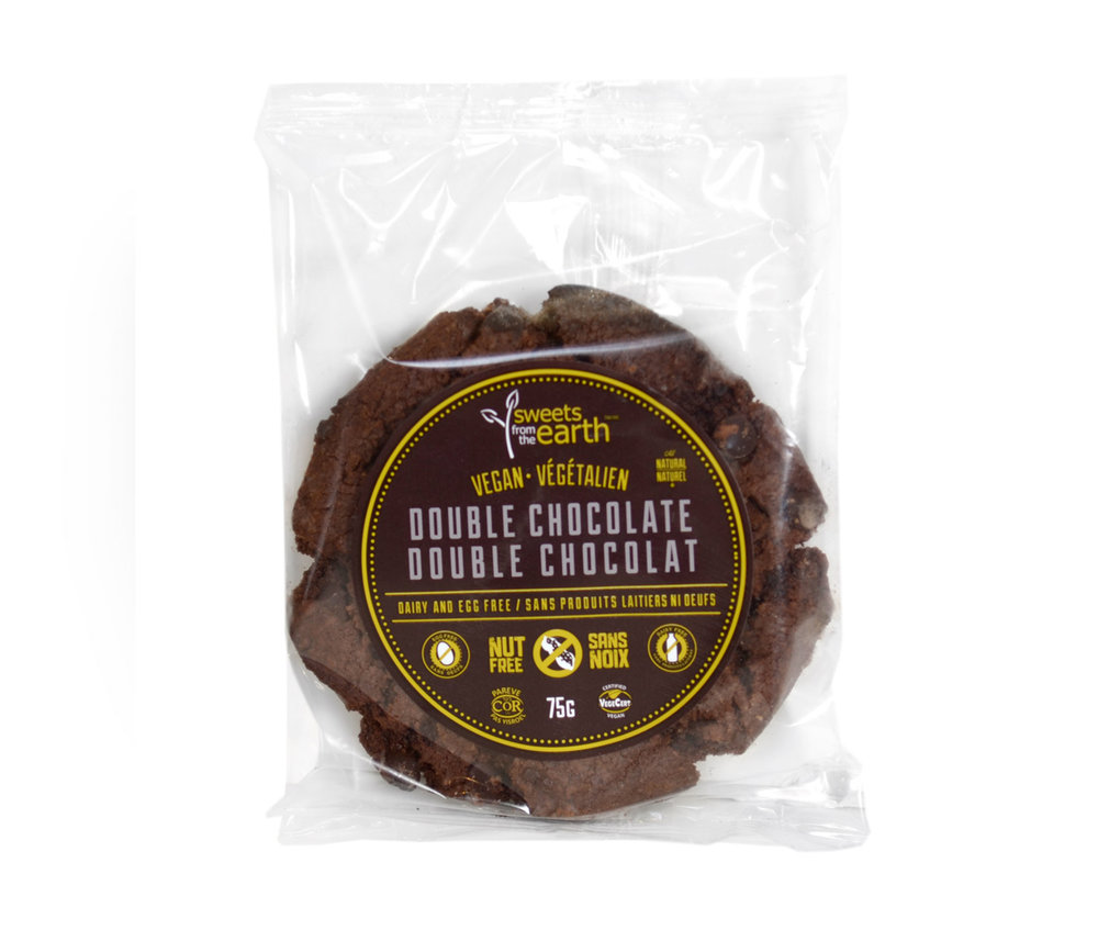 double chocolate chip - This cookie is for the serious chocolate lover! It's super decandent and loaded with chocolatey goodness.