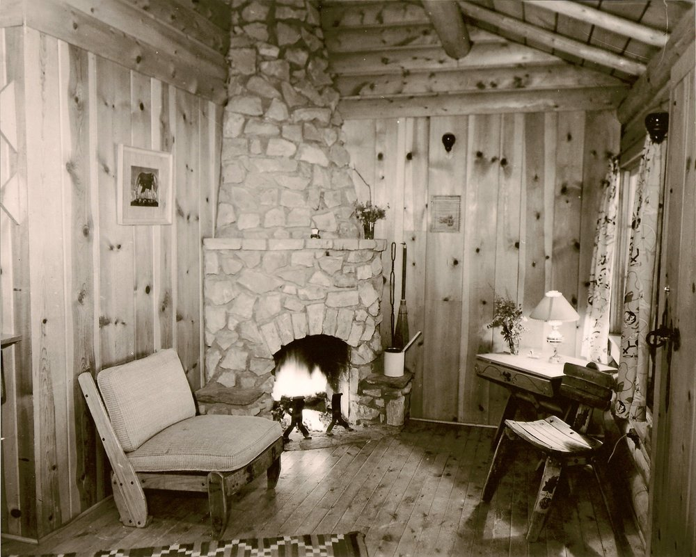 Old guest cabin fireplaces