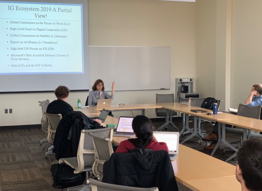 Dr. Nanette Levinson presents her work at the 2019 IGL Speaker Series. (Photo Credit: Dr. Derrick Cogburn)