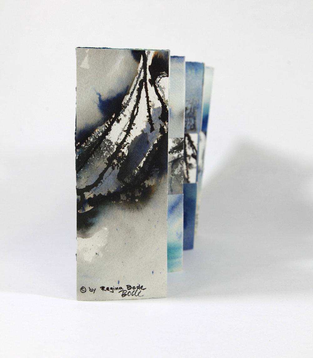 Regina Bode, Ocean Treasures, ink, watercolor paper, 2018, NFS, Busan, Korea