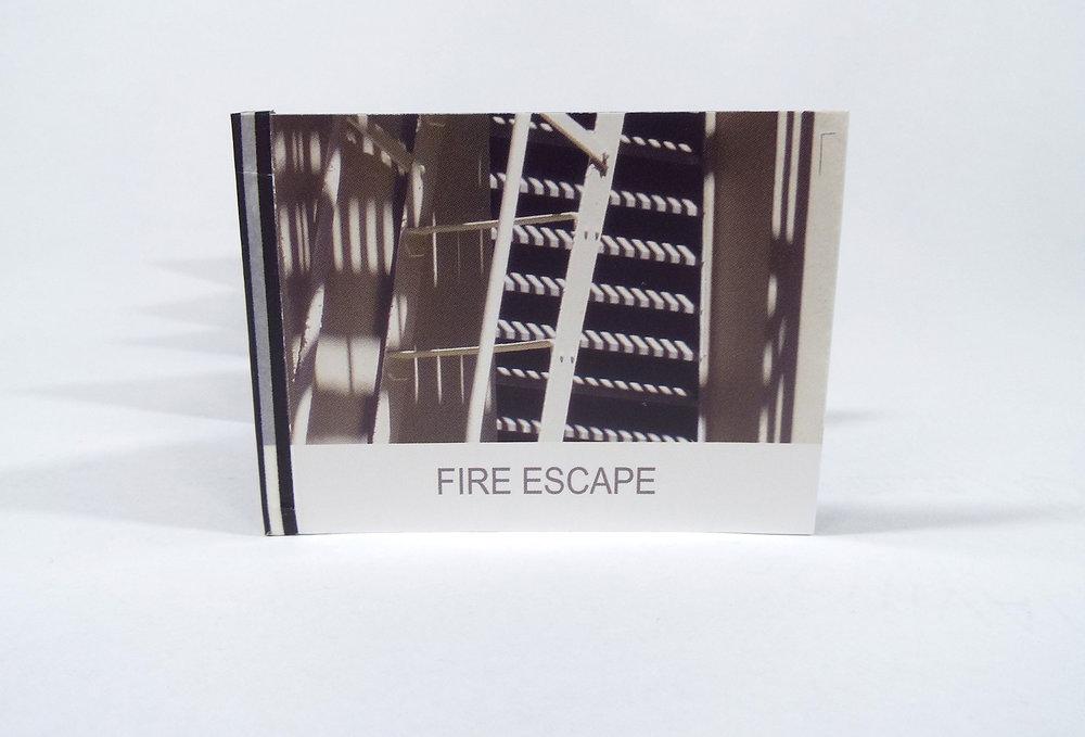 D Cichon, Fire Escape, 2018, $30, Mountain View, CA