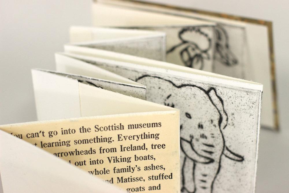 David B Johnson, Natural History Museums, Intaglio, letterpress, Batik Paper Cover, 2017, $250, Muncie, IN