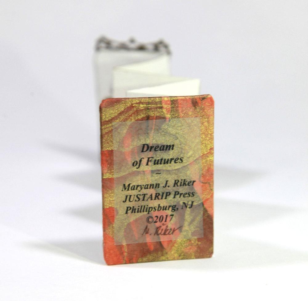Maryann J Riker, Dream of Futures, Tintype, Paper, Book Board, 2017, $25, Phillipsburg, NJ