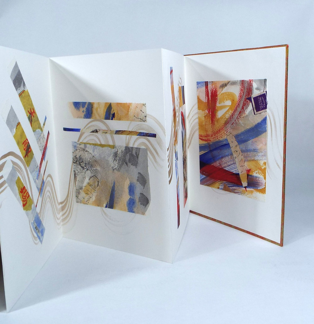 Laurel Rogers, Passionato Books, Inspiration in Santa Fe, Acrylic Painting, Collage, Walnut Ink, 2012, $275, Northampton, MA